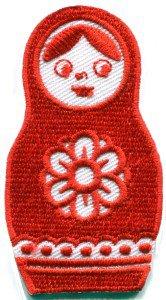 Russian matryoshka babushka babooshka nesting doll applique iron-on patch S-313