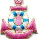 Anchor tattoo navy biker retro ship boat sea sew applique iron-on patch S-407