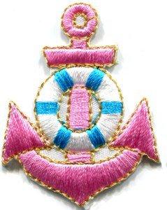 Anchor tattoo navy biker retro ship boat sea sew applique iron-on patch S-407