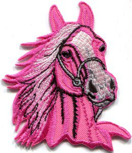 Horse colt bronco filly mustang pony stallion steed applique iron-on patch S-393