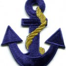 Anchor tattoo navy biker retro ship boat sea sew applique iron-on patch S-379