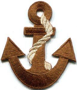 Anchor tattoo navy biker retro ship boat sea sew applique iron-on patch S-377