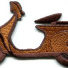 Motor scooter motorcycle cycle bike motorbike applique iron-on patch S-366
