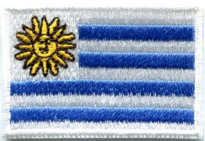 Flag of Uruguay sun of may South America applique iron-on patch Medium S-385