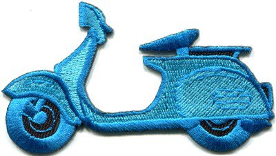 Motor scooter motorcycle cycle bike motorbike applique iron-on patch S-368