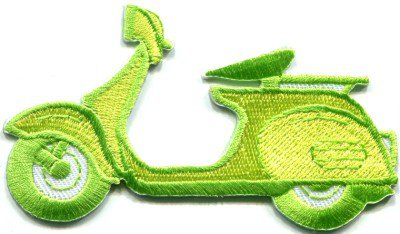 Motor scooter motorcycle cycle bike motorbike applique iron-on patch S-367