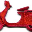Motor scooter motorcycle cycle bike motorbike applique iron-on patch S-372