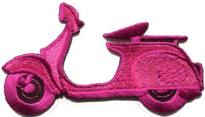 Motor scooter motorcycle cycle bike motorbike applique iron-on patch S-370