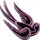 Bird tattoo swallow dove swiftlet sparrow biker applique iron-on patch S-359