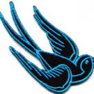 Bird tattoo swallow dove swiftlet sparrow biker applique iron-on patch S-360