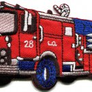 Fire engine truck rescue pumper retro applique iron-on patch S-560 WORLDWIDE DELIVERY IS FREE!