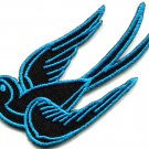 Bird tattoo swallow dove swiftlet sparrow biker applique iron-on patch S-568