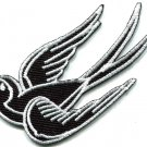 Bird tattoo swallow dove swiftlet sparrow biker applique iron-on patch S-567