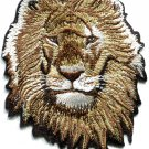 Lion cat puma jaguar tiger cheetah animal wildlife applique iron-on patch S-587