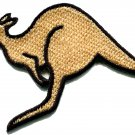Kangaroo australia roo boomer marsupial animal applique iron-on patch S-603