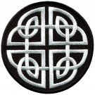Celtic knot Irish goth biker tattoo wicca magic applique iron-on patch S-599