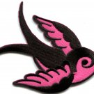 Bird tattoo swallow dove swiftlet sparrow biker applique iron-on patch S-594