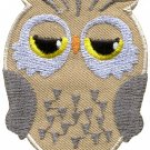 Owl bird of prey hoot animal wildlife applique iron-on patch S-596