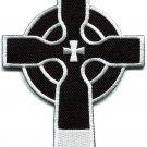 Celtic cross Irish goth biker tattoo wicca magic applique iron-on patch S-600
