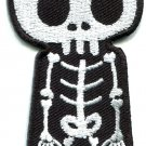 Skull skeleton goth punk emo horror biker tattoo applique iron-on patch S-451