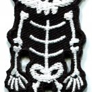 Skull skeleton goth horror applique iron-on patch S-259