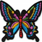 Butterfly 70s hippie boho retro love peace groovy applique iron-on patch G-5