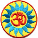 Hindu aum om infinity hindi yoga peace trance applique iron-on patch G-9