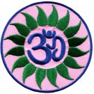 Hindu aum om infinity hindi yoga peace trance applique iron-on patch G-8