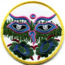 Eyes of Buddha buddhism yoga peace trance applique iron-on patch G-13
