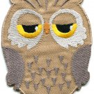 Owl bird of prey hoot animal wildlife applique iron-on patch G-29