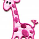 Giraffe baby animal kids fun wildlife safari applique iron-on patch G-40