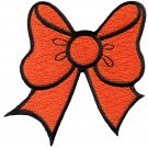 Orange bow knot ribbon boho retro sew sewing applique iron-on patch G-21