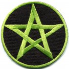 Satanic pentagram pentacle occult wicca pagan applique iron-on patch G-30