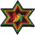 Lion of Judah flag star rasta rastafarian reggae applique iron-on patch G-16