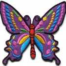 Butterfly 70s hippie boho retro love peace groovy applique iron-on patch G-24