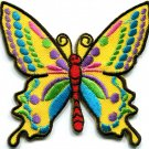 Butterfly 70s hippie boho retro love peace groovy applique iron-on patch G-25