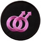 Gay pride rights symbol male LGBT applique iron-on patch G-36