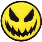 Evil smiley face smile boho 70's retro fun applique iron-on patch G-28