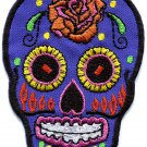 Skull tattoo biker horror goth punk emo rock retro applique iron-on patch G-54