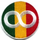 Flag of Judah infinity symbol rasta reggae ganja applique iron-on patch G-51