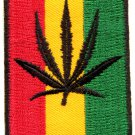 Flag of Judah pot leaf marijuana reggae applique iron-on patch G-45 WE SHIP ANYWHERE FOR FREE!