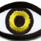 Eye eyeball tattoo biker horror goth punk emo retro applique iron-on patch G-44