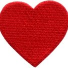 Red heart love valentine's day 70s retro party fun applique iron-on patch S-642
