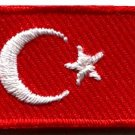 Flag of Turkey Turkish embroidered applique iron-on patch Small S-643 FREE WORLDWIDE DELIVERY!