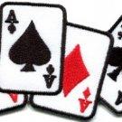 Four aces playing cards biker retro poker las vegas applique iron-on patch S-584