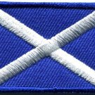 Flag of Scotland Scottish st. andrew's cross applique iron-on patch Medium S-721