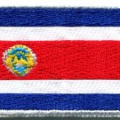 Flag of Costa Rica Tico Rican sew sewing applique iron-on patch Medium S-1002