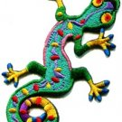 Lizard gekko salamander retro hippie hippy boho 70s applique iron-on patch S-189