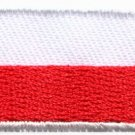 Flag of Poland Polish Europe European applique iron-on patch new Small S-1010