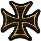 German Iron Cross military medal WW2 valor biker iron-on applique patch S-529
